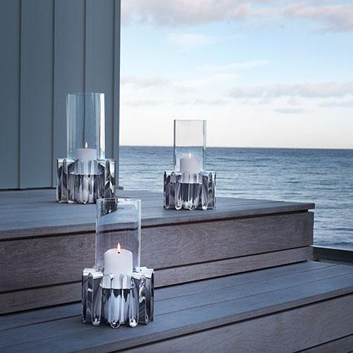 Frequency Hurricane Candle Lamp, Medium by Kelly Wearstler for Georg Jensen