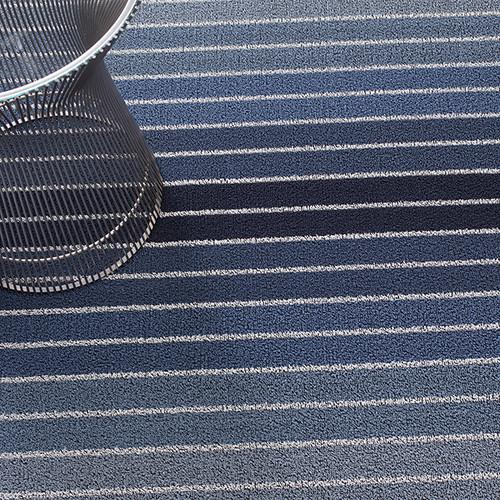 Block Stripe Shag Indoor/Outdoor Vinyl Floor Mat by Chilewich