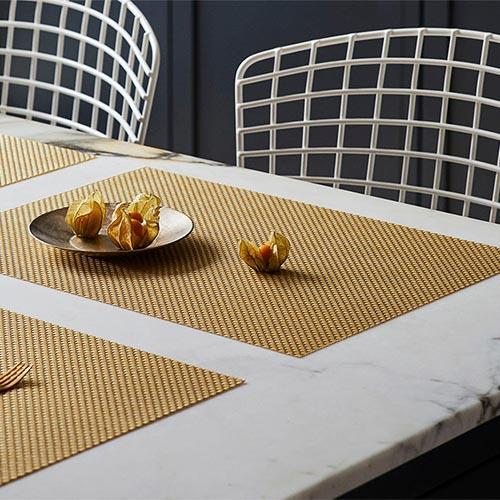 Chilewich: Basketweave Woven Vinyl Placemats Sets of 4 & Runners