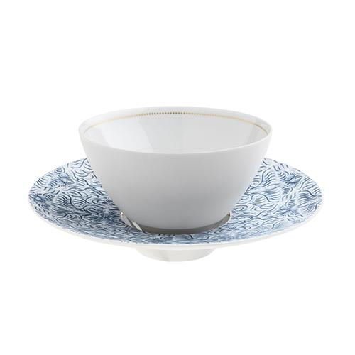 Alif Caffe Latte or Soup Bowl and Saucer by Hering Berlin