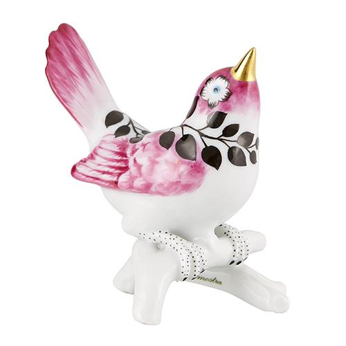 "Primavera 3.5"" Royal Bird Figurine by Christian Lacroix for Vista Alegre"