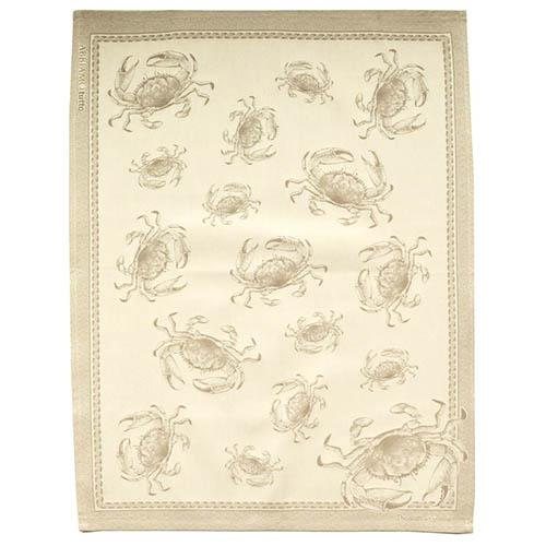 "Blue Crab Natural Cotton Kitchen Towel, 31"" x 22"", Set of 4 by Abbiamo Tutto"