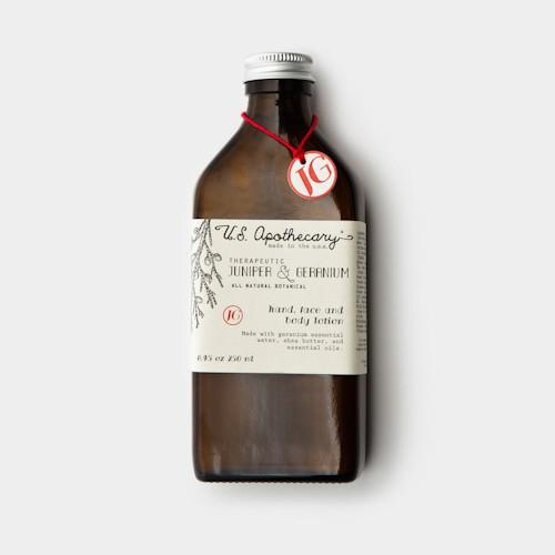 Juniper & Geranium Hand & Body Lotion by U.S. Apothecary