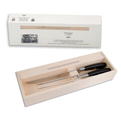 No. 3045 Carving Set with Ebony Handles by Berti