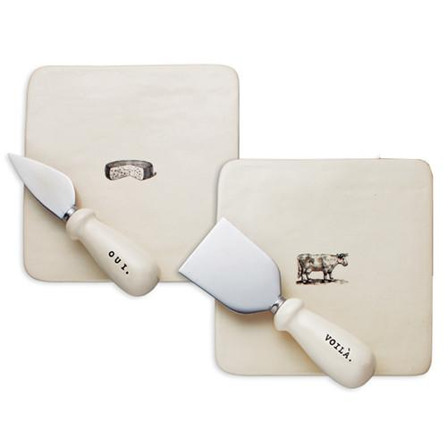 Say Cheese Tray & Knife Gift Set by Rae Dunn