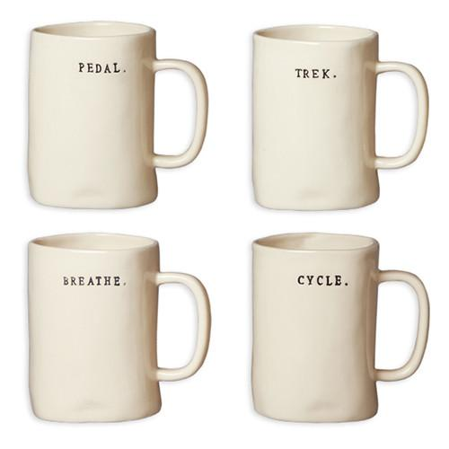 Bike Mugs, Set of 4 by Rae Dunn for Magenta