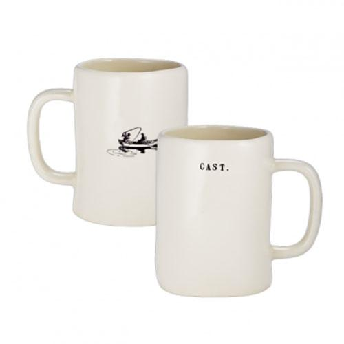 Fishing Mugs, Set of 4 by Rae Dunn