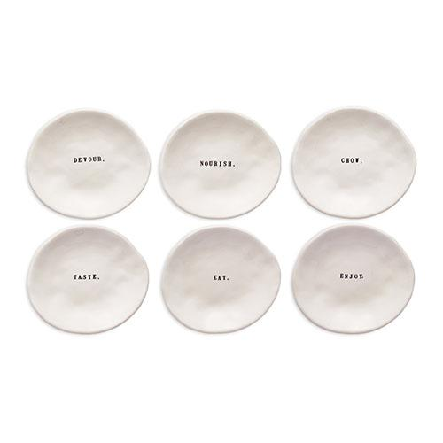 Eating Plates, Set of 6 by Rae Dunn