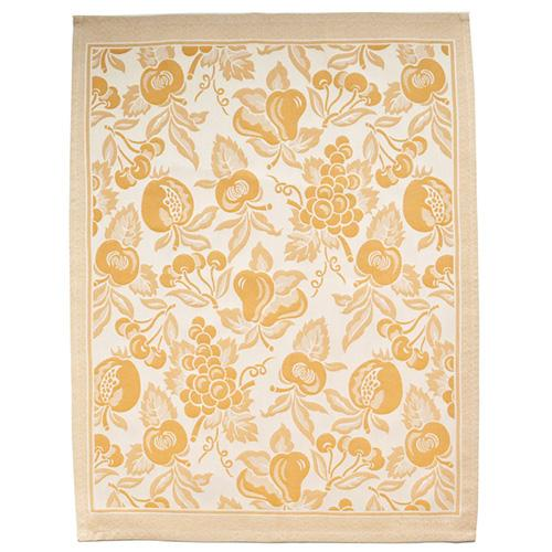 "Yellow Mixed Fruit Cotton Kitchen Towel, 31"" x 22"", Set of 4 by Abbiamo Tutto"