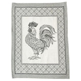 "Black Rooster Cotton Kitchen Towel, 31"" x 22"", Set of 4 by Abbiamo Tutto"