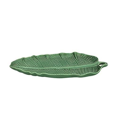 "Leaves Banana Leaf Bowl, 15"" by Bordallo Pinheiro"