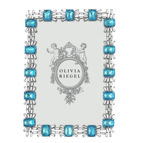Aurora Blue Tourmaline Photo Frame by Olivia Riegel