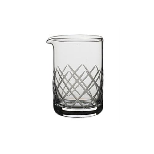 Glass Diamond-Cut Cocktail Mixing Beaker by Modern Mixologist
