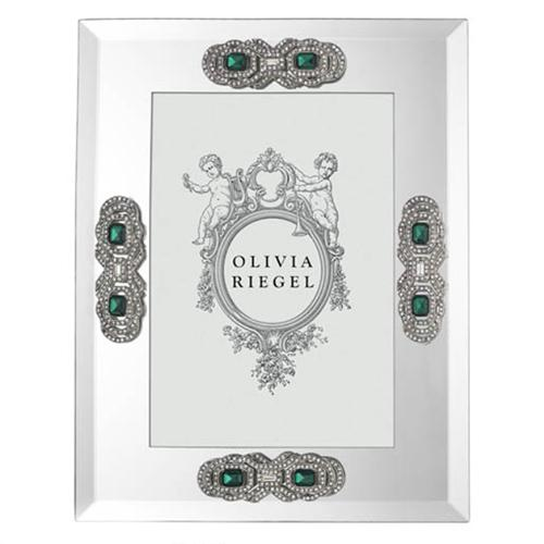 Emerald Deco Mirror Photo Frame by Olivia Riegel