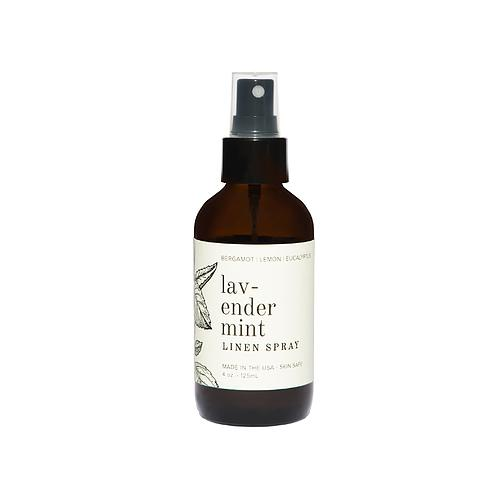 Lavender Mint 4 oz Linen Spray front by Broken Top Candle Co.
