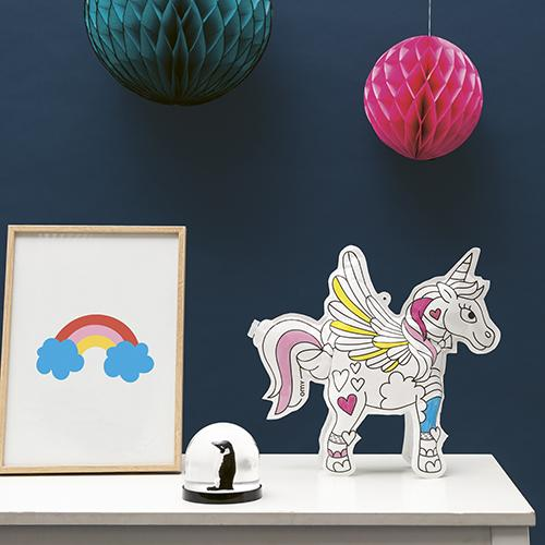 Lily the Unicorn 'Inflatable' Paper COLOR ME Toy by Omy France