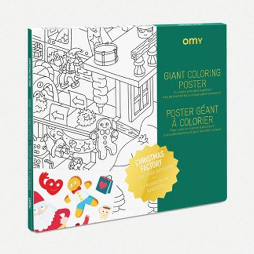 Santa's Christmas Workshop Giant Coloring Poster by OMY Design & Play