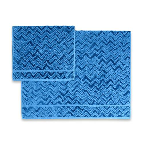 Rex Degraded Chevron Solid Color Towels by Missoni Home