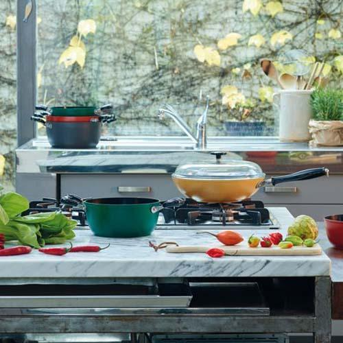 Quarzo Nero Aluminum Cookware by Sambonet