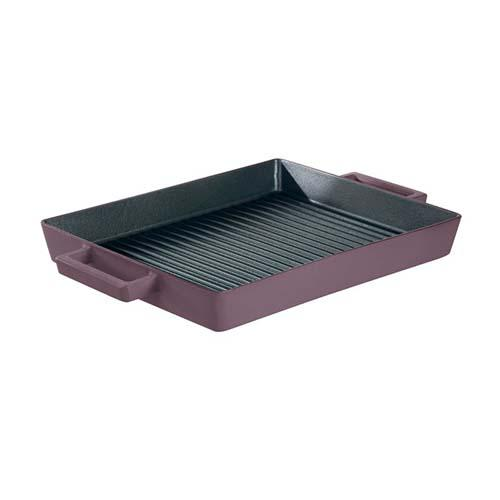 Terracotto Cast Iron Rectangular Grill Pan, Juniper/Purple by Sambonet