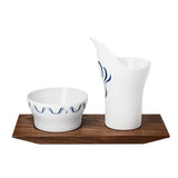 Alif Creamer and Sugar on Tray by Hering Berlin