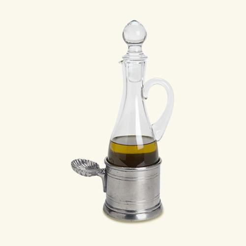 Oil Cruet with Shell Handle by Match Pewter
