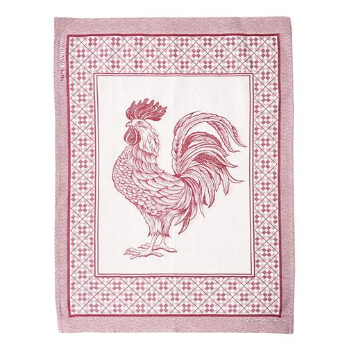 "Red Rooster Cotton Kitchen Towel, 31"" x 22"", Set of 4 by Abbiamo Tutto"