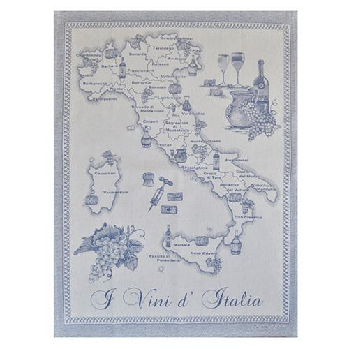 "Blue Wines of Italy Cotton Kitchen Towel, 31"" x 22"", Set of 4 by Abbiamo Tutto"