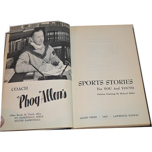 Coach Phog Allen's Sports Stories For You and Youth, First Edition, Signed