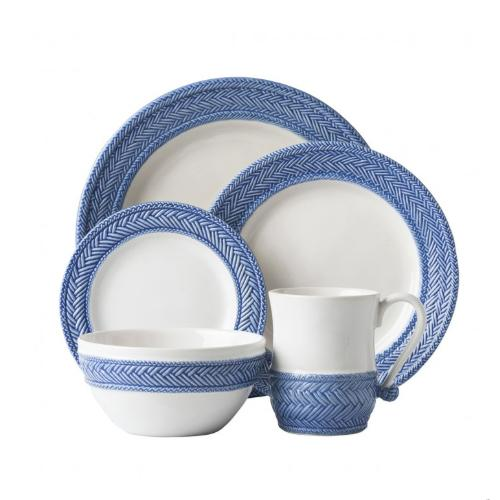 Le Panier White/Delft 5 Piece Place Setting by Juliska