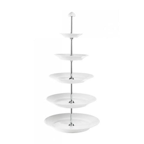 White Fluted 5-Tier Etagere by Royal Copenhagen