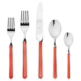 Fantasia Red Flatware by Mepra