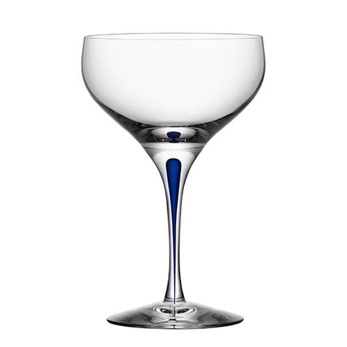 Intermezzo Blue 10 oz. Coupe Glass by Orrefors