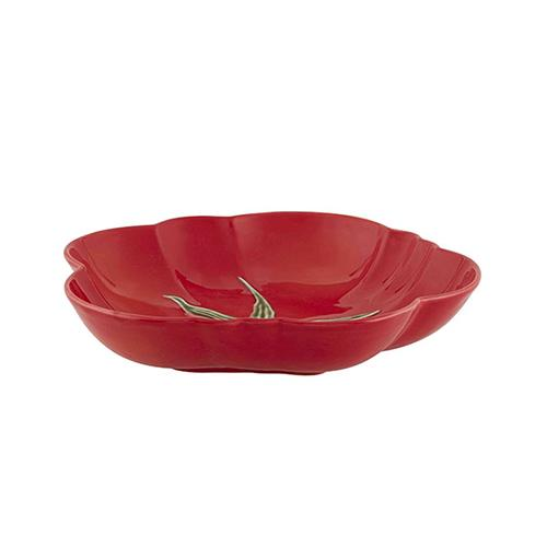 "Tomato Pasta Bowl or Plate, 9 5/6"" by Bordallo Pinheiro"