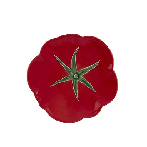 "Tomato Fruit Plate, 8.25"" by Bordallo Pinheiro"