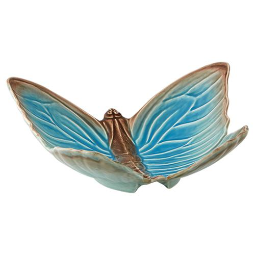 "Cloudy Butterflies Fruit Bowl, 16"" by Claudia Schiffer for Bordallo Pinheiro"