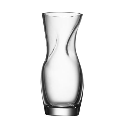 "Squeeze 9"" Clear Vase by Lena Bergstrom for Orrefors"