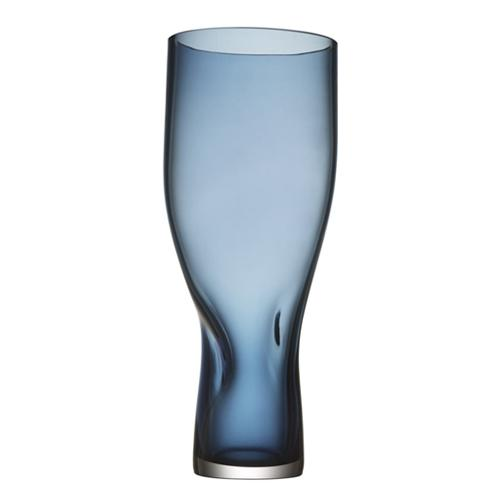 "Squeeze 13"" Blue Vase by Lena Bergstrom for Orrefors"
