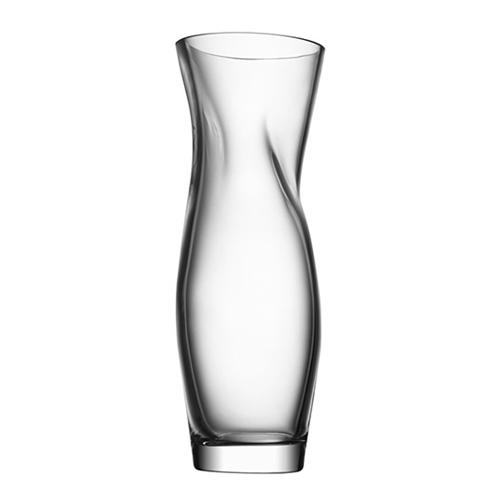 "Squeeze 13"" Clear Vase by Lena Bergstrom for Orrefors"