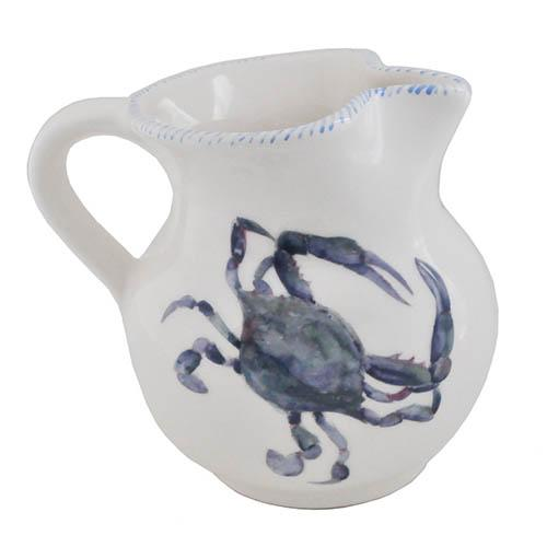 "Blue Crab Pitcher, 6"", 38 oz. by Abbiamo Tutto"
