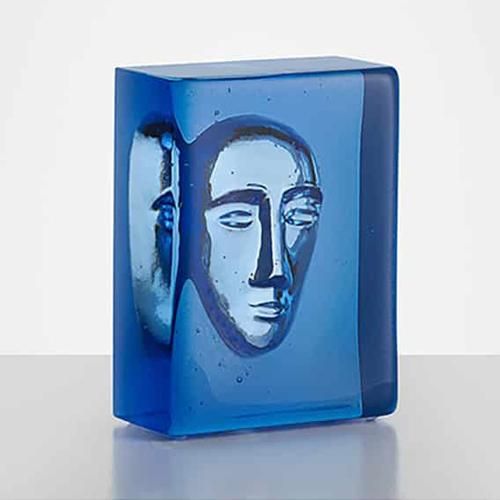 Azure Man Limited Edition Glass Sculpture by Bertil Vallien for Kosta Boda