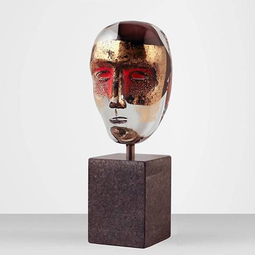 Brains On Stone Hefaistos Limited Edition Sculpture by Bertil Vallien for Kosta Boda