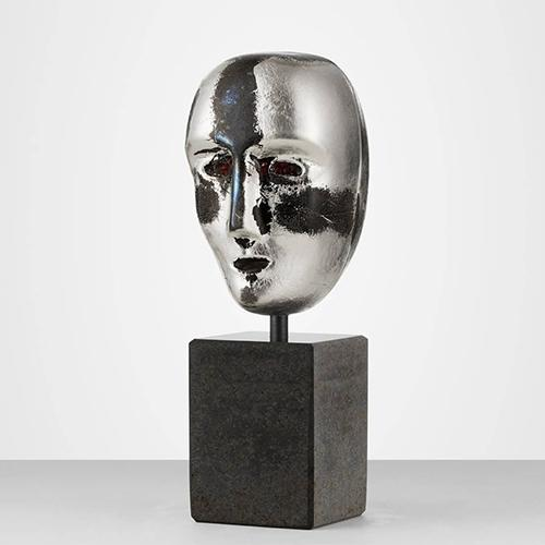 Brains On Stone Mercurius Limited Edition Sculpture by Bertil Vallien for Kosta Boda