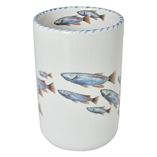 "Lake Fish Wine Bottle Holder/Utensil Holder, 7"" by Abbiamo Tutto"