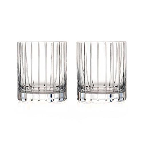 Avenue Double Old Fashioned Glasses, Set of 2 by Rogaska 1665