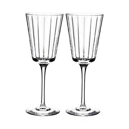 Avenue White Wine Glasses, Set of 2 by Rogaska 1665