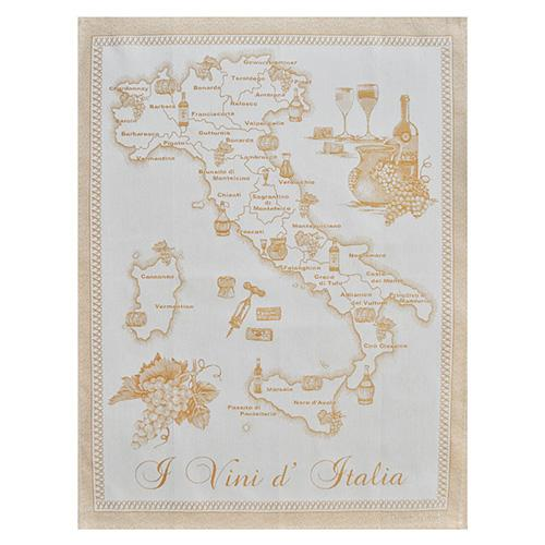 "Yellow Wines of Italy Cotton Kitchen Towel, 31"" x 22"", Set of 4 by Abbiamo Tutto"