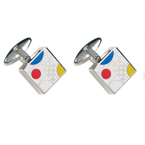 Playhouse White Cufflinks by Frank Lloyd Wright for Acme Studio