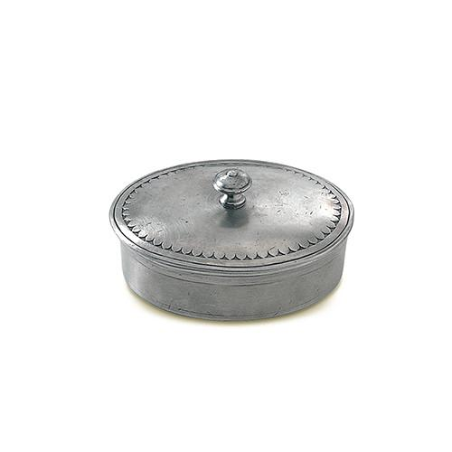 Oval Pewter Box by Match Pewter