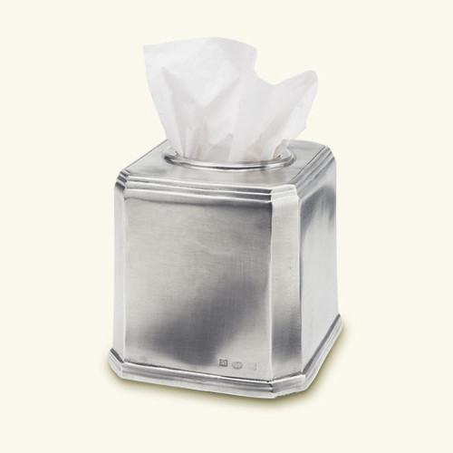 Dolomiti Tissue Box, Square by Match Pewter